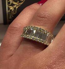 18CT YELLOW GOLD HALF ETERNITY RING 2.00CT FSI1 DIAMONDS LADIES RING GOY324