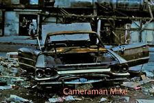 Vintage 35mm Kodak Kodachrome Slide Film Abandoned Car Detroit Lower East Side