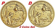 2-coin-set 2019 P D Native American In The Space Program Sacagawea Dollar $1
