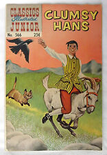 1956 Classics Illustrated Clumsy Hans Junior #566 Fairy Tale Silver Age Comics