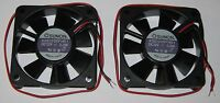 2 X Sunon 60 mm High Speed Cooling KDE Fan - 12 V - 18CFM 31dB - KDE1206 - 12VDC