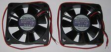2 X Sunon 60 mm High Speed Cooling KDE Fan - 12 V - 18CFM 31dB - KDE1206 - 12VDC