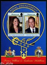 William & Kate Royal Engagement Montserrat souvenir sheet of two stamps mnh 2011