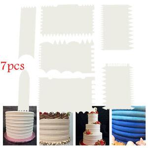 7Pcs/Set Plastic Cake Scraper Cake Edge Decorating Tool Scrapper Cutter Smoother