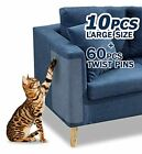 10 Pcs Furniture Protectors from Cats Clear Self-Adhesive Cat Scratch Deterre...