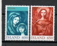 s34005 ISLAND ICELAND ISLANDA MNH 1984 Christmas 2v