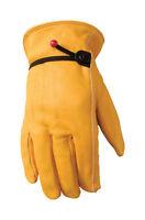 Wells Lamont  Saddletan  Men's  Medium  Leather  Driver  Gloves