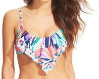 Bar III Bikini Top Flutter overlay Multi Colored Bathing Suit Size XS