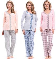 dn 8057 Schlafanzug Pyjama Gr XL 42 2XL 44 3XL 46 Mama Stillpyjama NEU OVP
