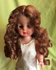 "Modacrylic By Global Dolls NOS 11//12 Long Curly Doll Wig ""LONDON"" In Carrot Red"