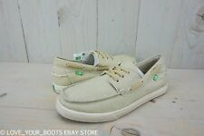 SANUK  THE SEA MAN TAN WASHED LACE UP CASUAL BOAT SHOES MENS US 9 NEW