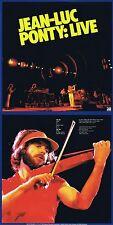 """Jean-Luc Ponty """"live"""" del 1979! eccellente rock e fusion Jazz! UNGHIE NUOVO CD!"""