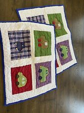 Pottery Barn Kids Quilted Cars Pillow Shams