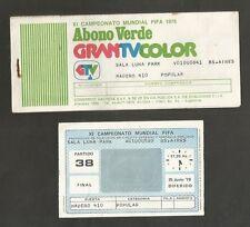 Argentina Soccer World Cup 1978 Luna Park GranTV Ticket #38 Final  USED