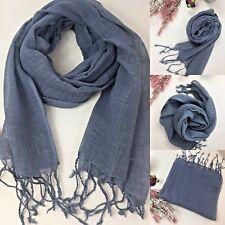 Plain linen scarf plain linen scarves unisex scarves 100% cotton FREE DELIVERY