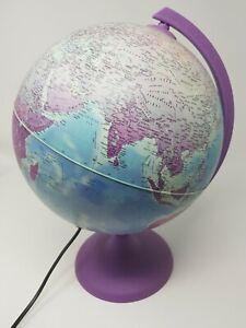 """Tecnodidattica 10"""" Violet Florence Globe Lamp Vintage Children Educational"""