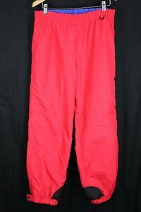 VTG Columbia Mens Ski Pants sz Medium Bright Red Nylon