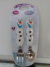 Frozen Olaf Elsa Pupazzo di Neve Forchetta & Cucchiaio Bambini Posate Utensili