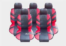 5X Séance Couverture de siège d' AUTO Edition siège-auto Protection Rouge pour