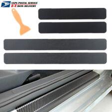 Car Sticker 5d Carbon Fiber Molding Door Sill Rubber Protector Parts Accessories Fits Jeep Wrangler Unlimited