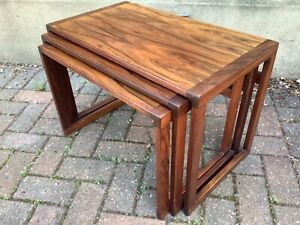 DANISH NEST OF ROSEWOOD COFFEE TABLES 1970s