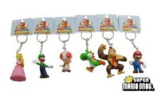 6x Super Mario Luigi Princess Peach Yoshi Toad DK Figure Key Ring Chain Set #02