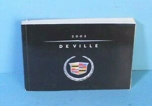 02 2002 Cadillac Deville owners manual