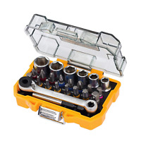 DeWalt DT71516-QZ Set 24 pezzi assortiti con inserti e bussole per avvitatura