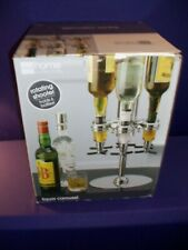New listing Jc Penney Home Collection Rotating Shooter Liquor Carousel Holds 6 Bottles Nib