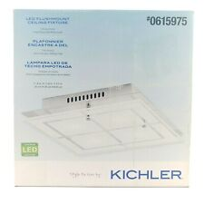 Kichler 11.8 in x 11.8 in Chrome LED Flush Mount Light Bright White