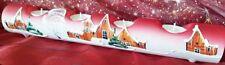 Kerzenständer Rot Weihnachten Deko Glas Teelicht Kerzen Handbemalt Advent WOW
