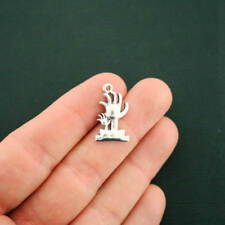8 Zombie Charms Antique Silver Tone Vampire Hands - Sc1358