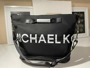 NEW Michael Kors Sport Black Duffle MSGR LOGO Crossbody Purse Bag