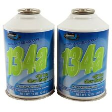 R134a + UV DYE Glow Charge Auto Truck A/C Refrigerant Gas Freon (2) 12oz Can USA
