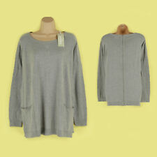 No Pattern Zip Jumpers/Cardigans Plus Size for Women
