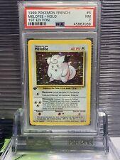 1999 pokemon french 1st edition base set mélofée-clefairy #5/102 psa 7 nm A15