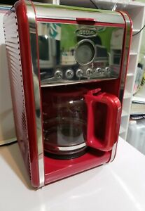 Bella Linea Red Coffee Maker Collection w/ 12-Cup Carafe CM4282 with Manual