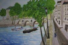 """Boussier - Aquarelle -  """" Pont Marie """" - Signée et Non Datée"""