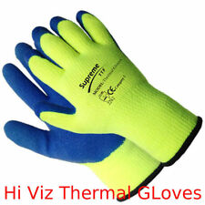 PREMIUM Hi Viz Thermal Winter Builders Latex Work Gloves Gardening Construction