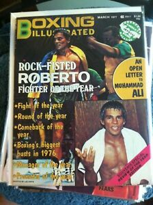 MARCH 1977 BOXING ILLUSTRATED ROCK-FISTED ROBERTO MAGAZINE     GROBEE1957 !