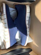 Cole Haan 10.5 M Zerogrand Blue Stitchlite C24947 Wingtip Oxford Shoes  Grand.OS