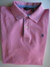 LINCS David Chu Pink Golf Polo Shirt Size Large L Cotton Short Sleeves