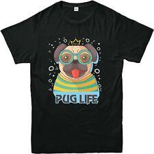 PUG LIFE DOG Printed Tee Shirt Casual Summer DOG Love Mens Kids Tees Top 3/4-4XL