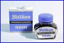 """PELIKAN Tinte 4001 """" Königsblau auswaschbar """" / 1980ies Blue Ink made in GERMANY"""