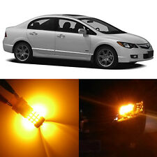 Alla Lighting Front Turn Signal Light 1157NA Amber LED Bulbs for Acura CSX RLX