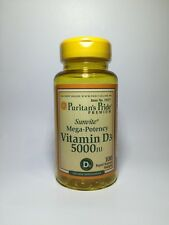 Puritan's Pride Mega-Potency Vitamin D3 5000IU 100 softgels