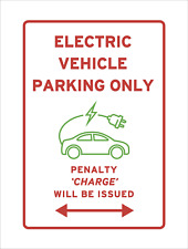 Electric Car Charging Parking Only Sign Penalty Charge Funny Pun Joke Reserved