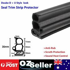 "Seal Rubber Trim Pinchweld w/""D""""D"" Look Car Door Van Caravan Toolbox Boot 11M"
