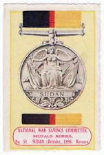 (I. B) Cendrillon: National War Savings (médailles Série 51) Soudan