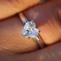1 3/4 Ctw Sim Diamond Solitaire Engagement Wedding Promise Ring 14K White Gold